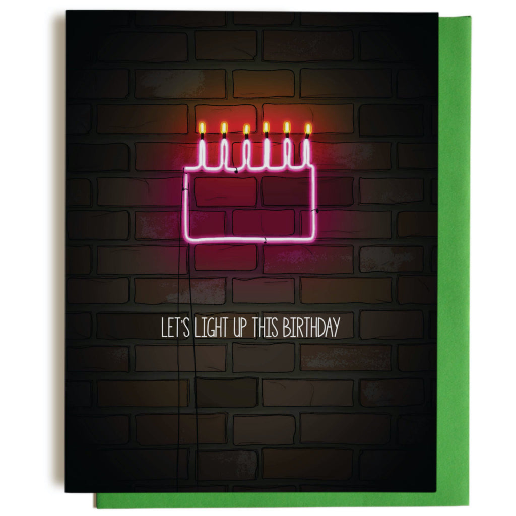 Neon Birthday Card