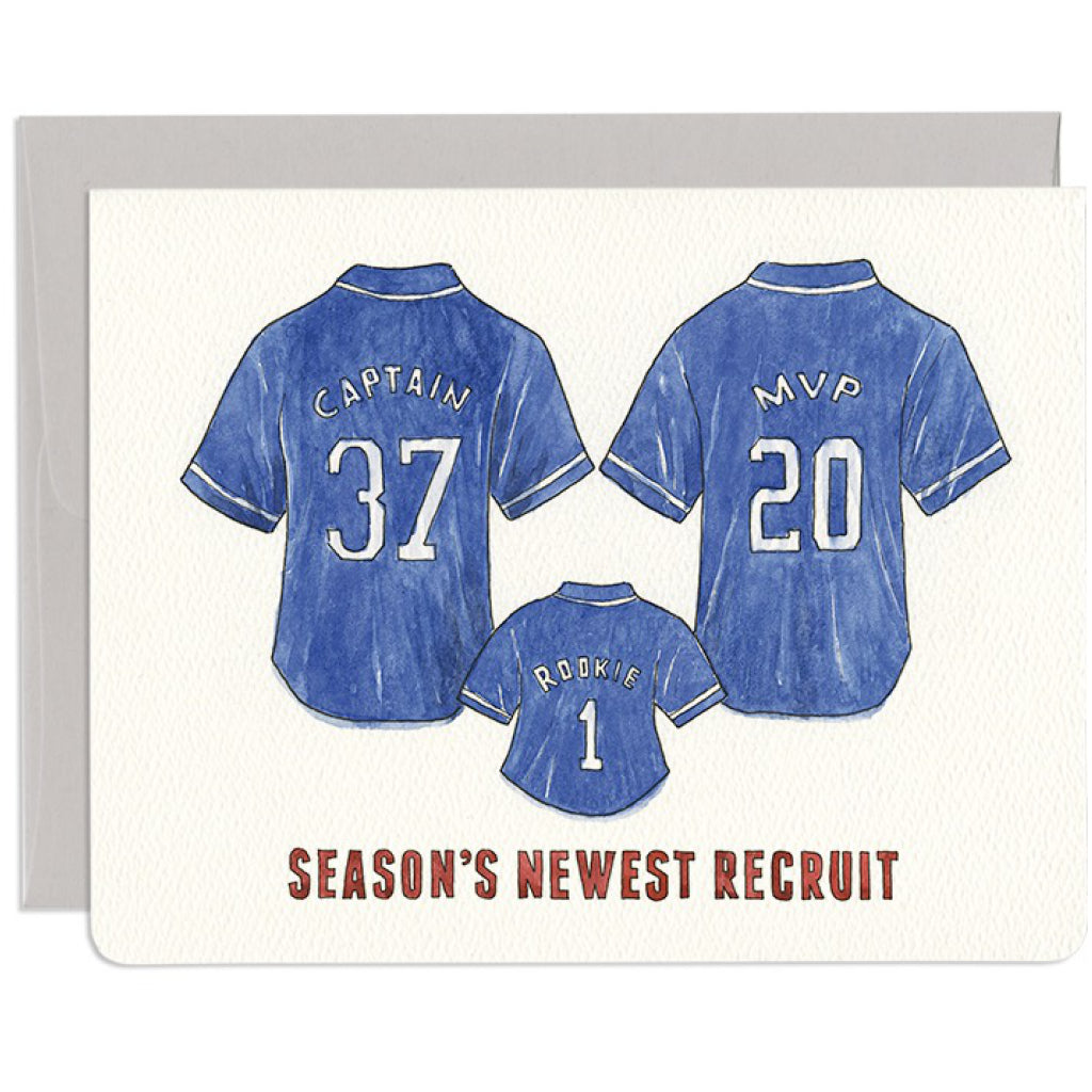 New Recruit Jerseys Baby Card