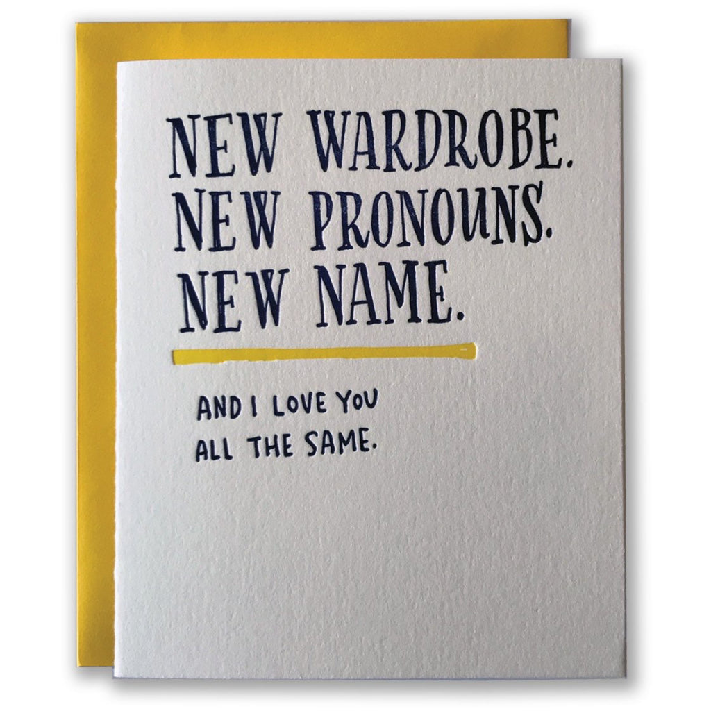 New Wardrobe New Pronoun Card