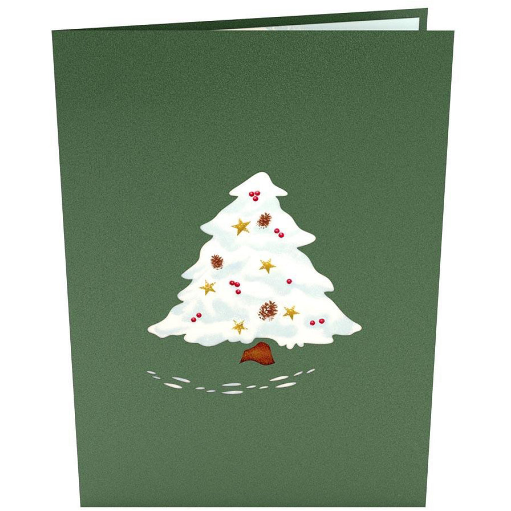 Front of Night Before Christmas Tree 3D Pop Up Card.