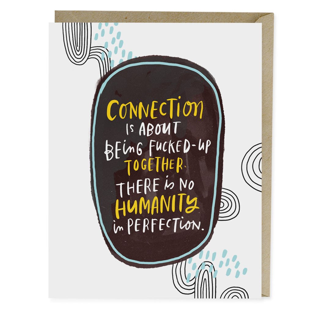 No Humanity In Perfection Card