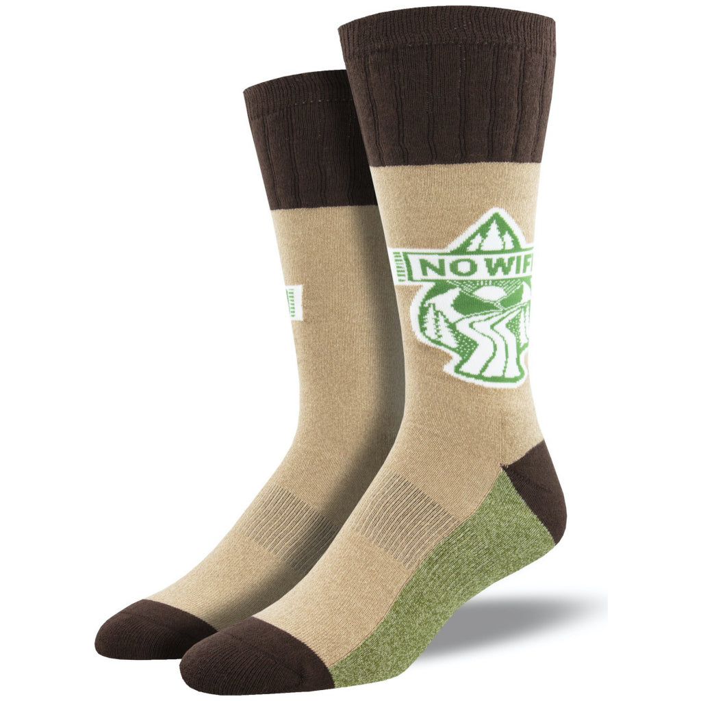 No Wifi Outlands Socks Hemp Large