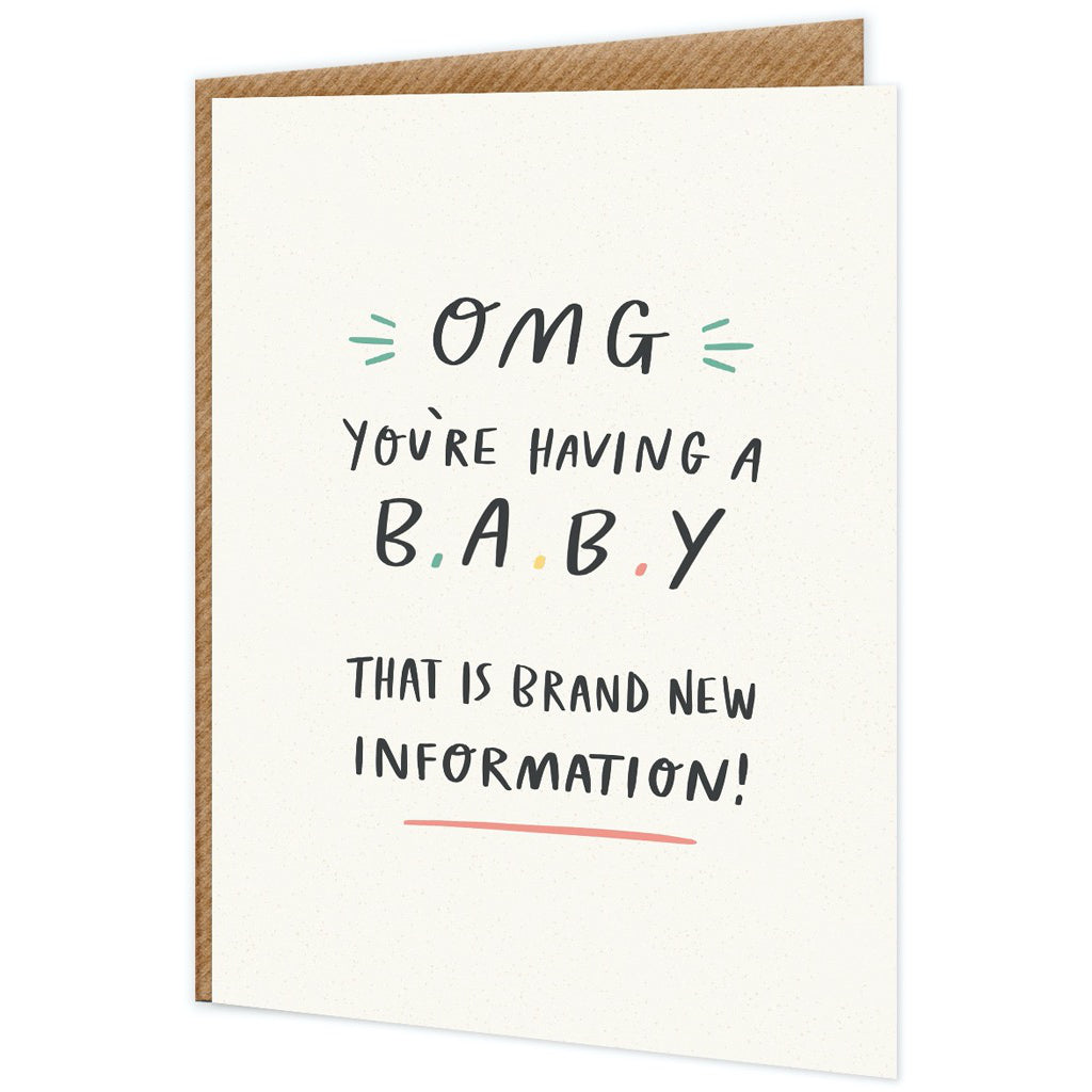 OMG You're Having A Baby Card