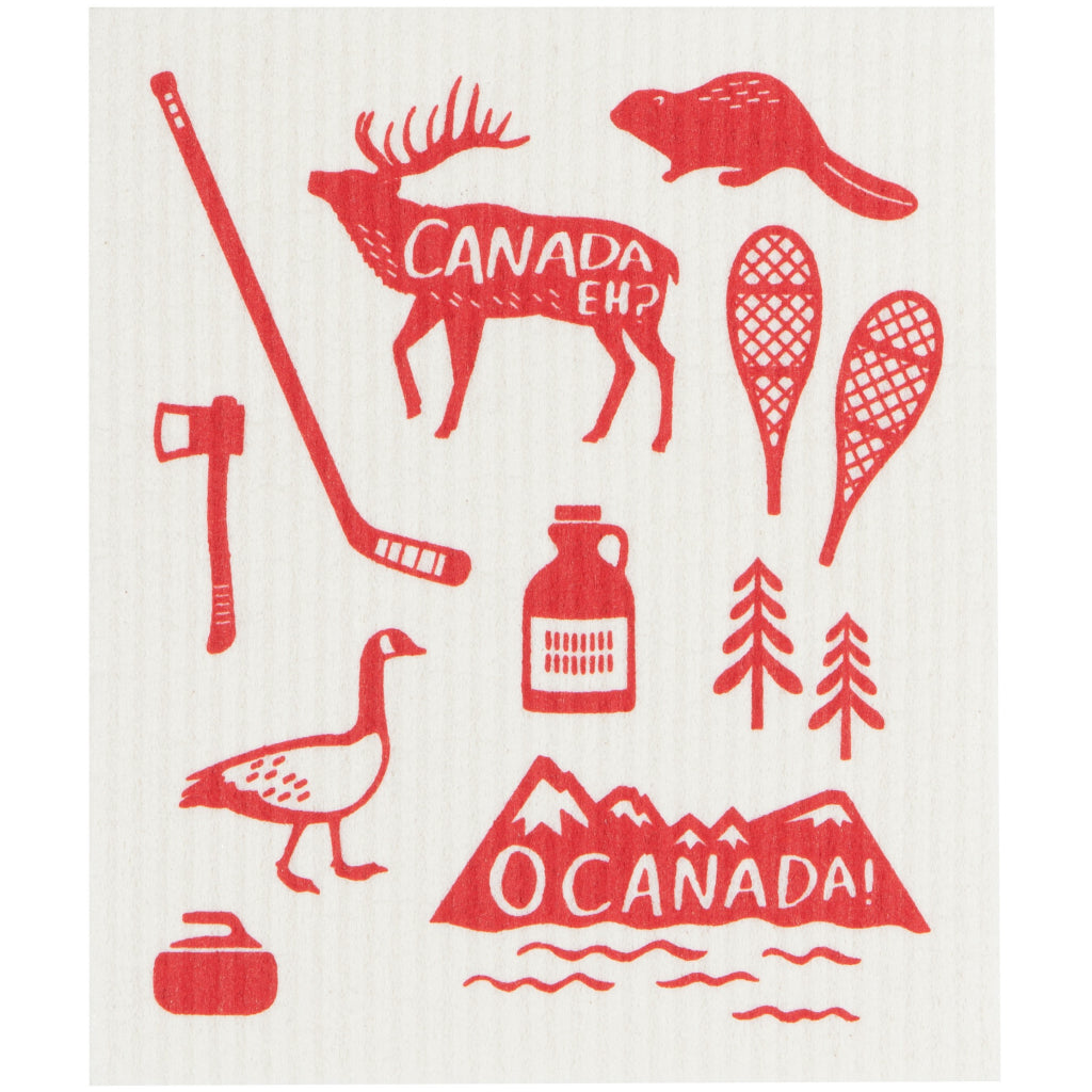 O Canada Swedish Dishcloth