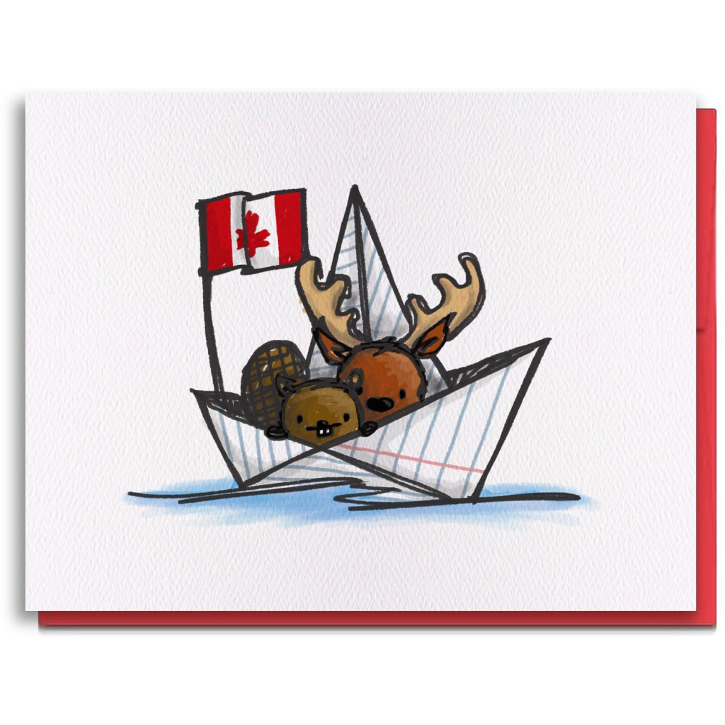 Oh Canada Boat Card