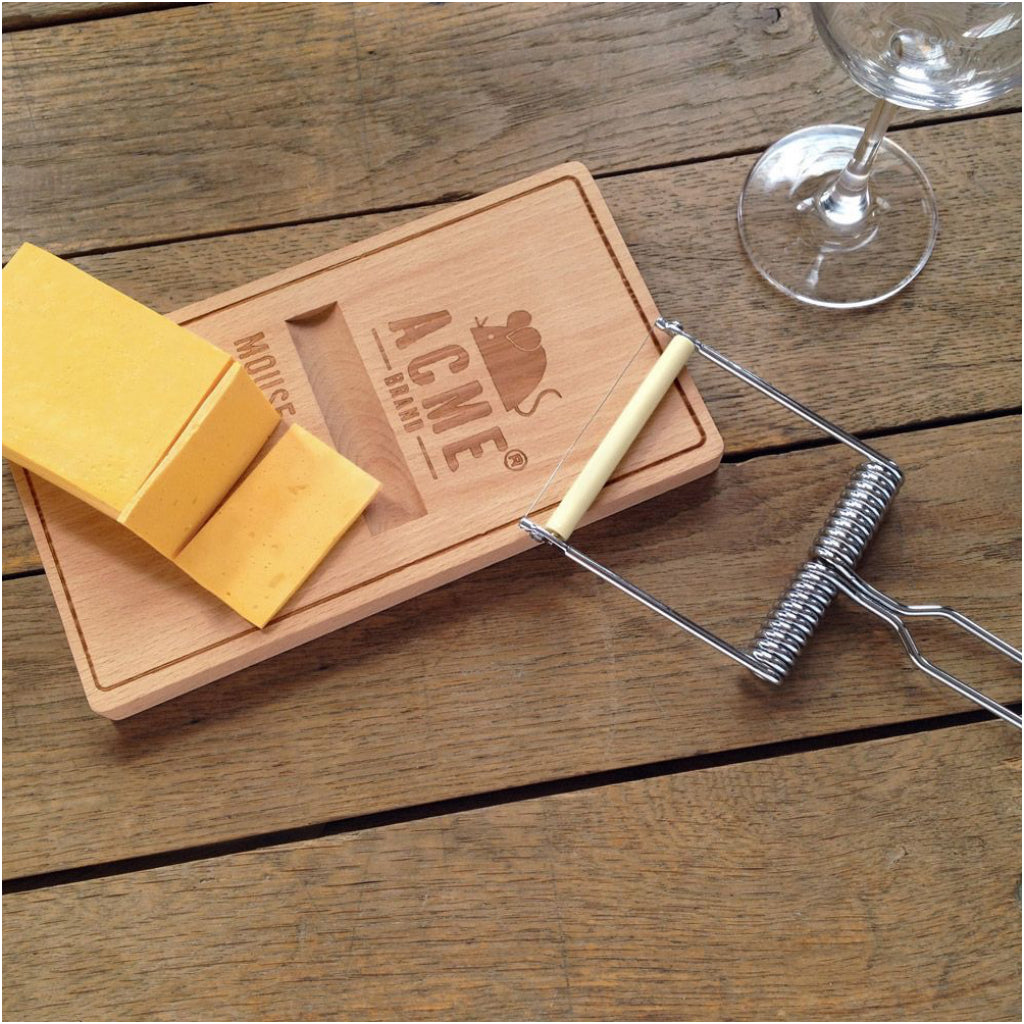 Oh Snap! Mousetrap Cheese Board In Use