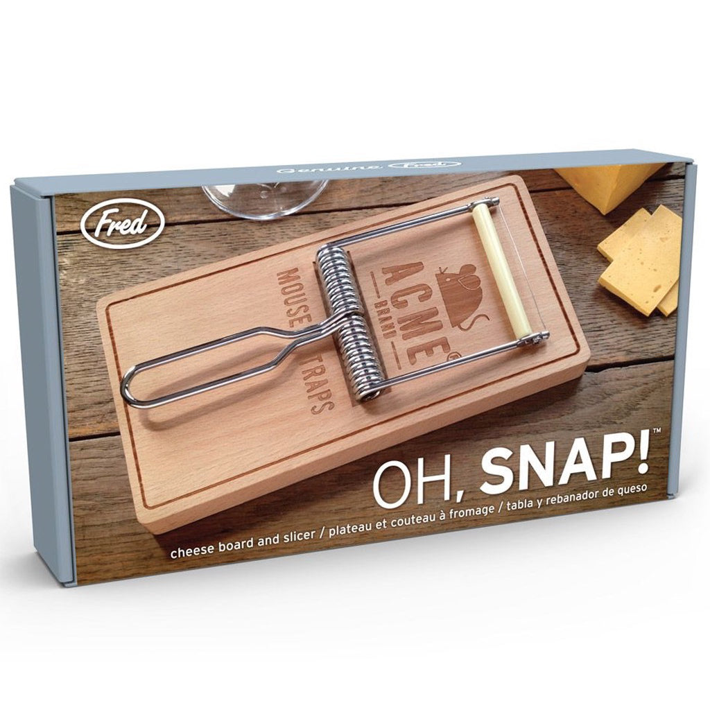 Oh Snap! Mousetrap Cheese Board In Box