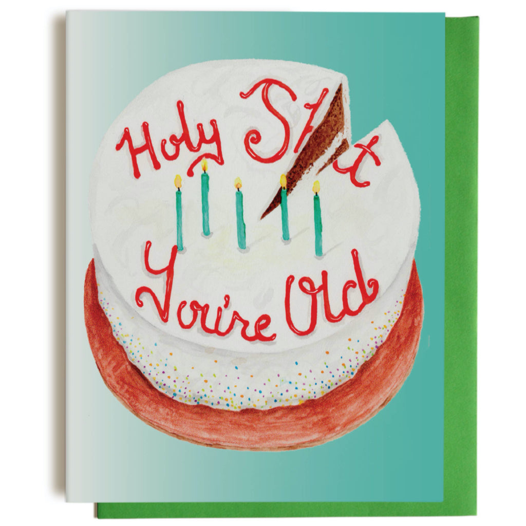 Old Cake Birthday Card