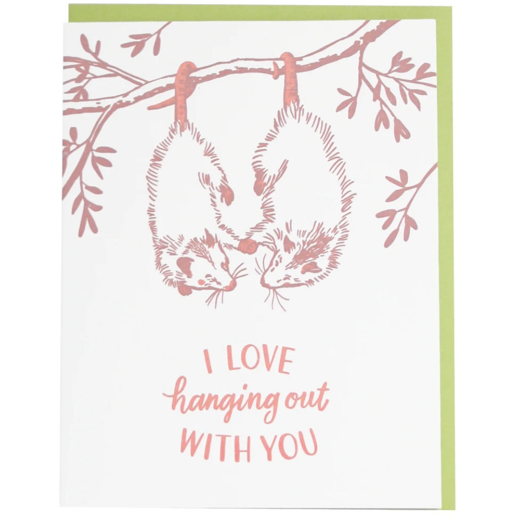 Opossums Hanging Out Card