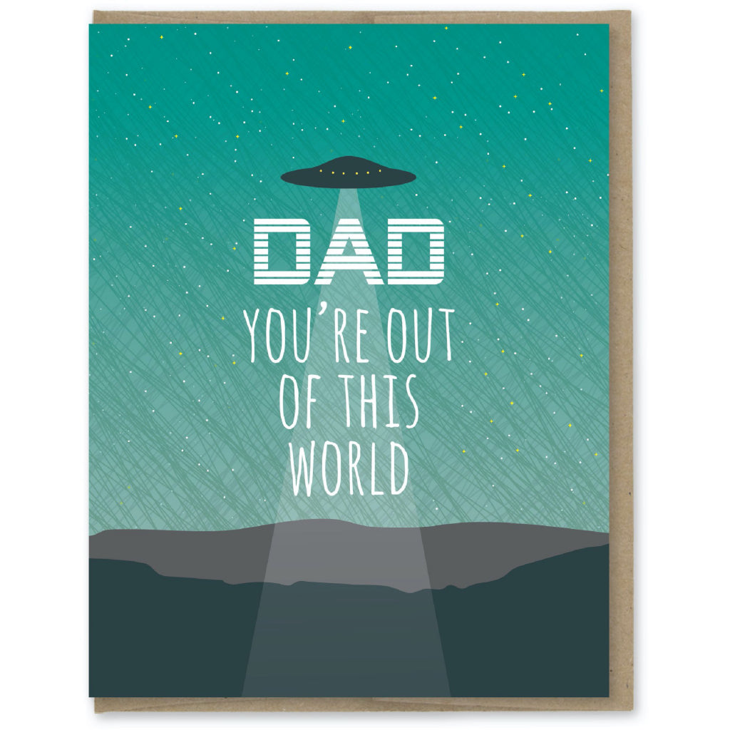 Out Of This World UFO Dad Card