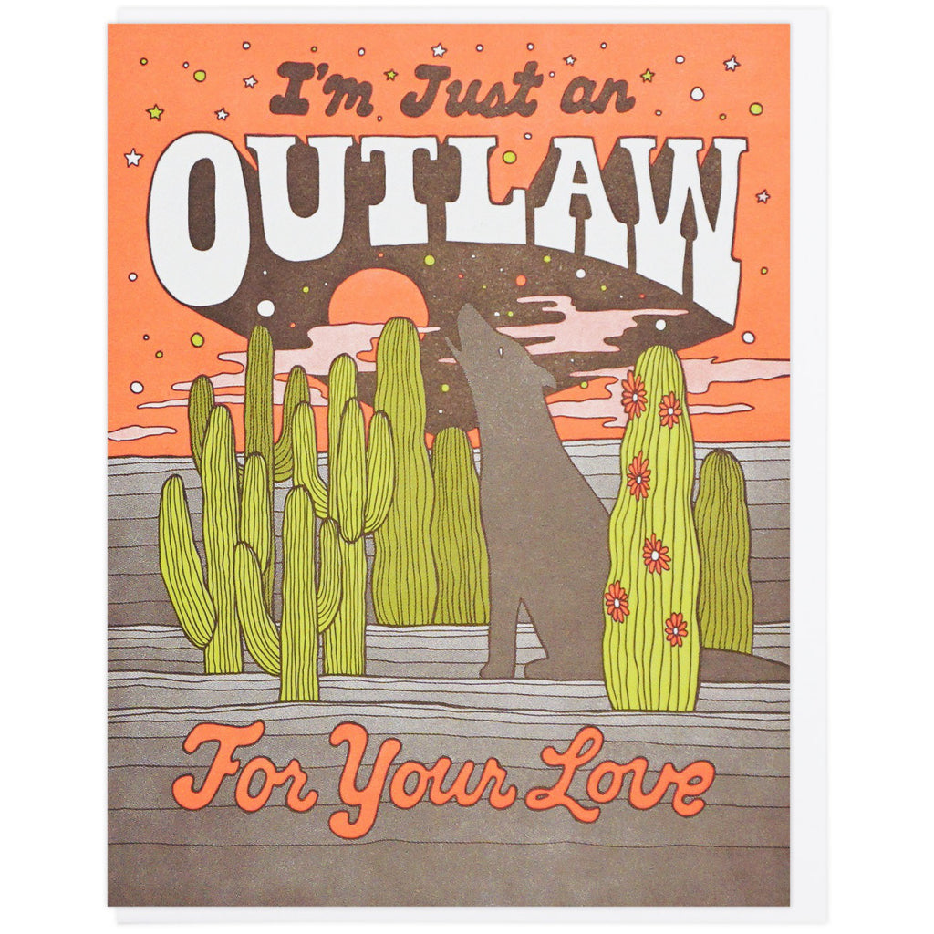 Outlaw For Your Love Card