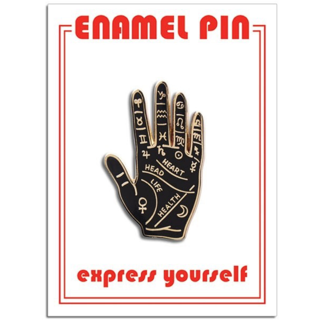 Palm Reading Enamel Pin