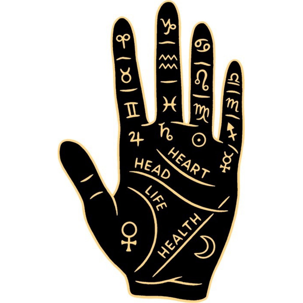 Palm Reading Hand Sticker