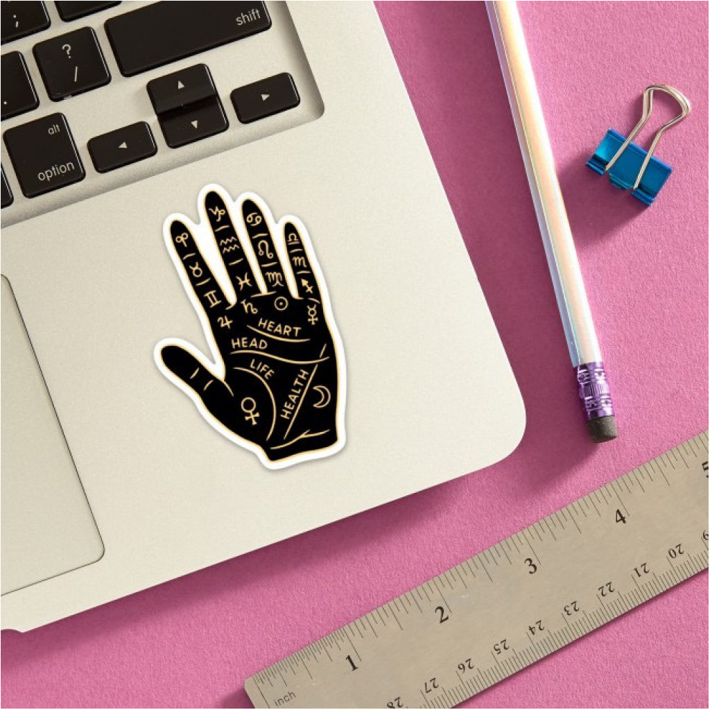Palm Reading Hand Sticker Lifestyle