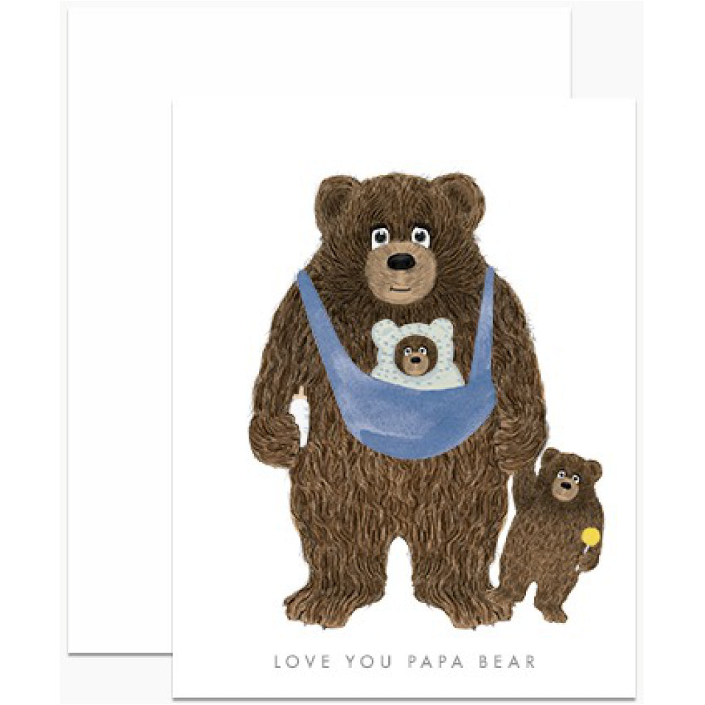 Papa Bear With Baby Bears Card