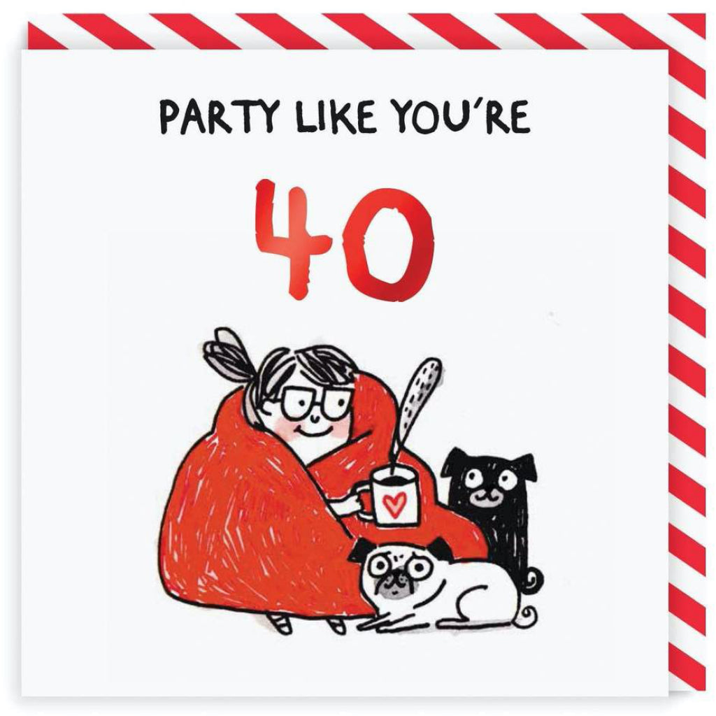 Party Like You're 40 Birthday Card