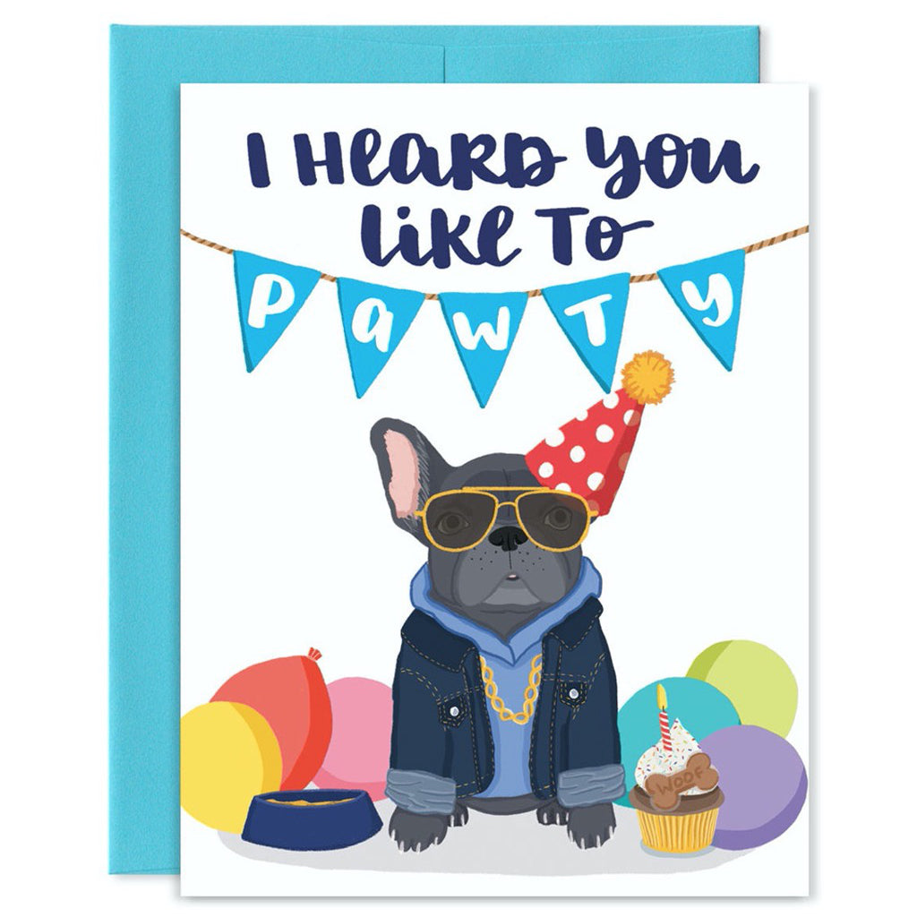 Pawty Dog Card
