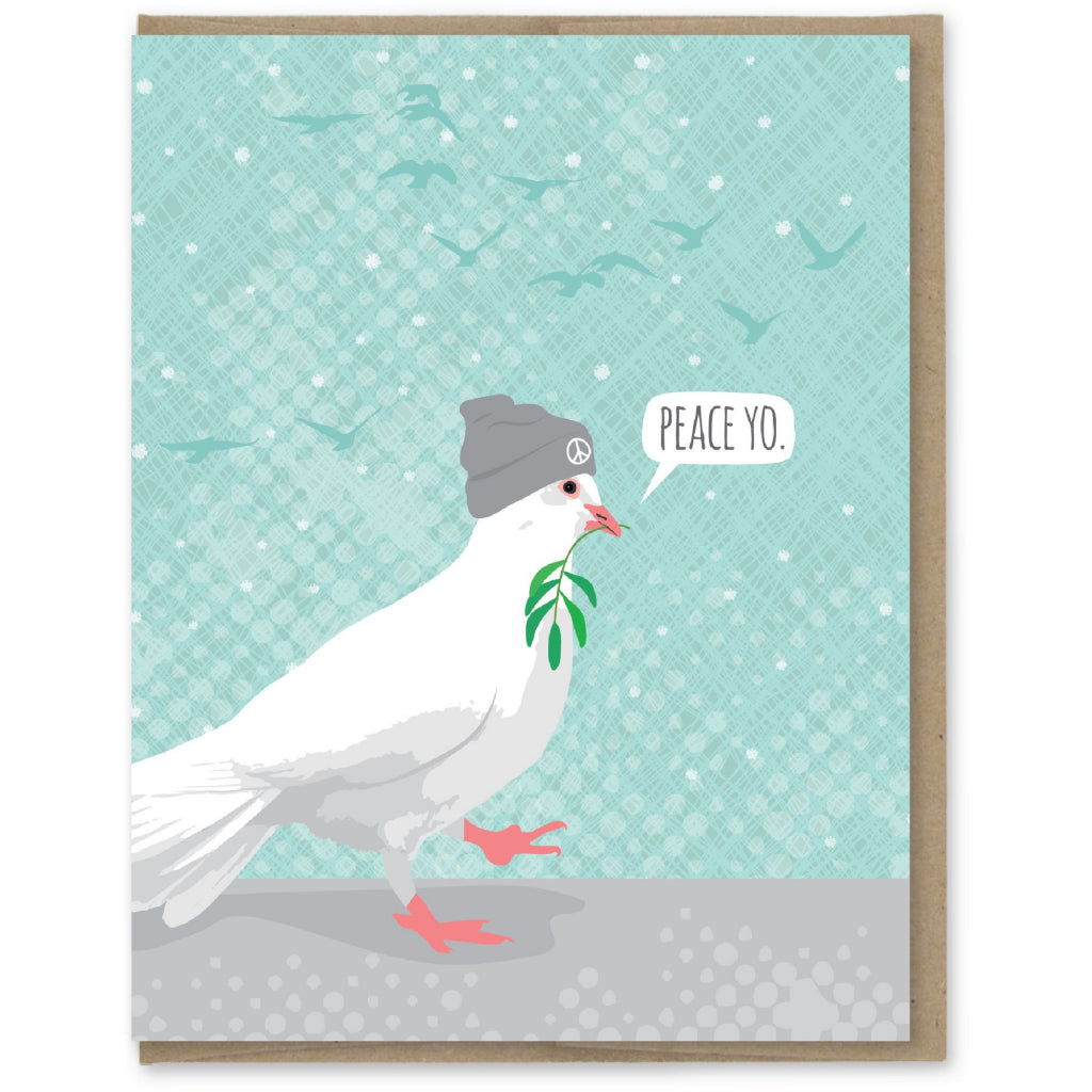 Peace Yo Dove Card