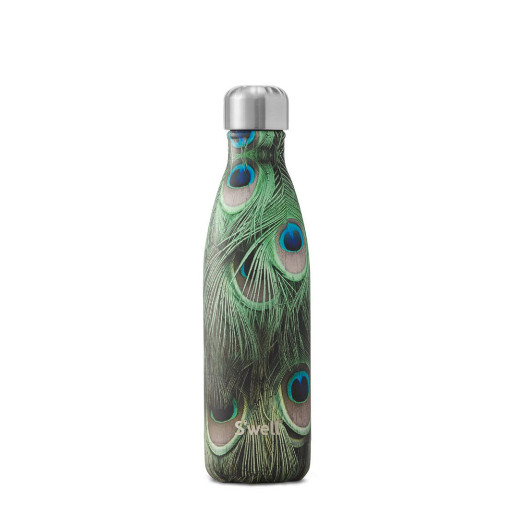 Peacock Water Bottle 17oz 500ml