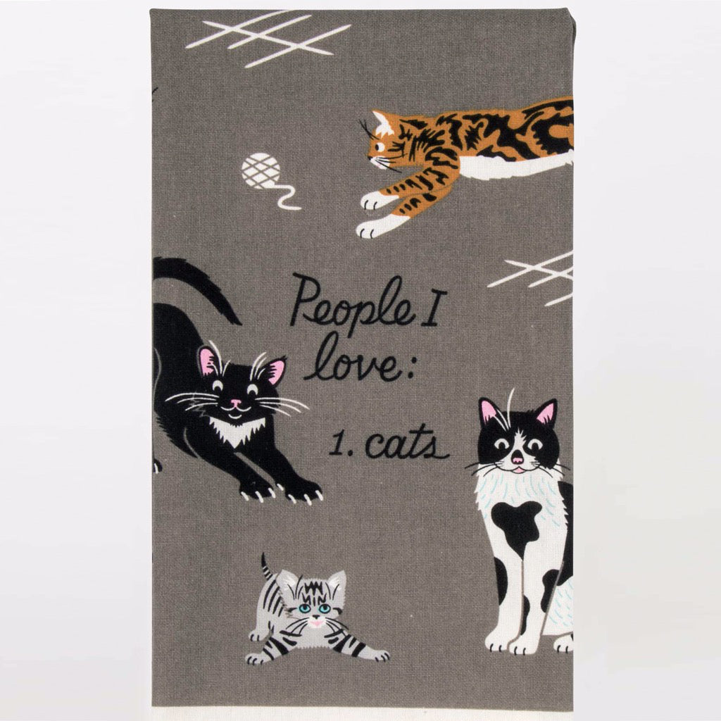 People I Love Cats Dish Towel