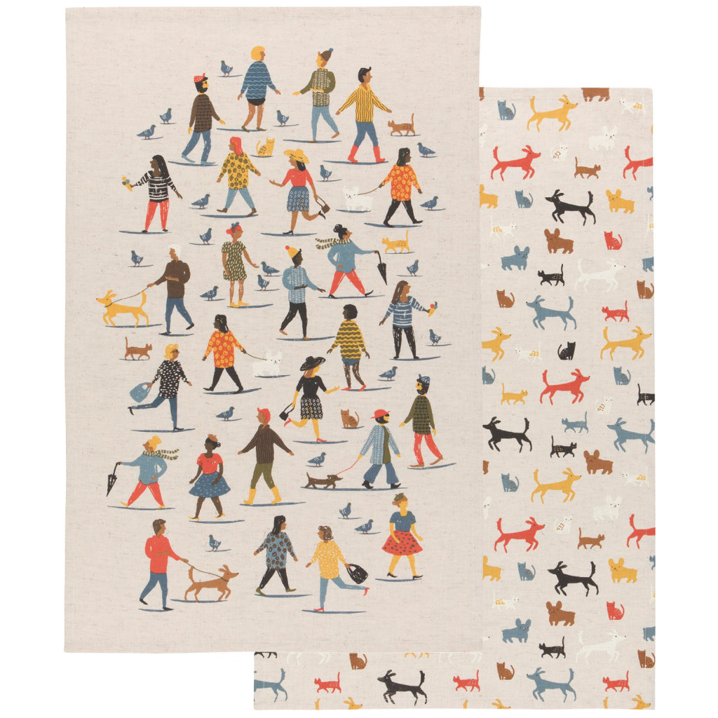 People Person Tea Towels Set of 2