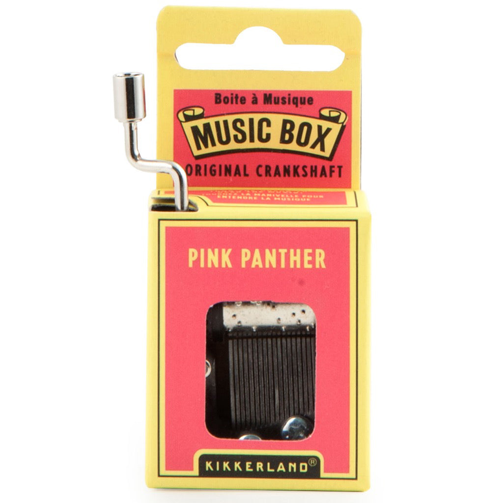 Pink Panther Crank Music Box In Box