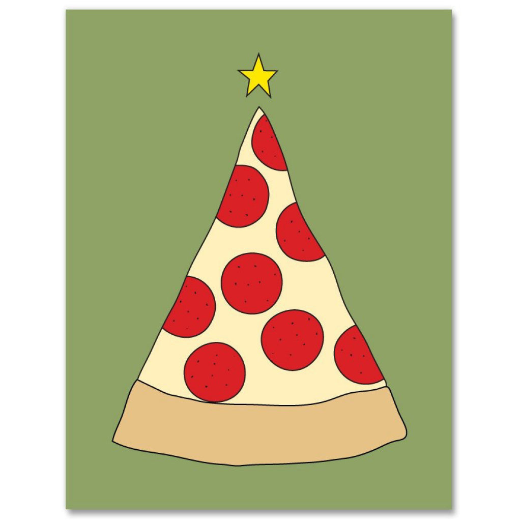 Pizza Christmas Tree Card