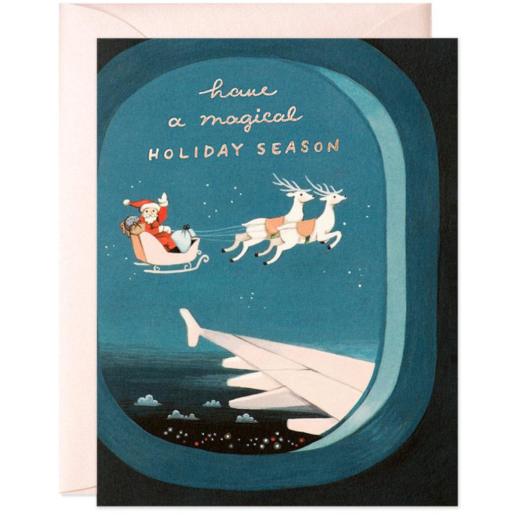 Plane Window Santa Card