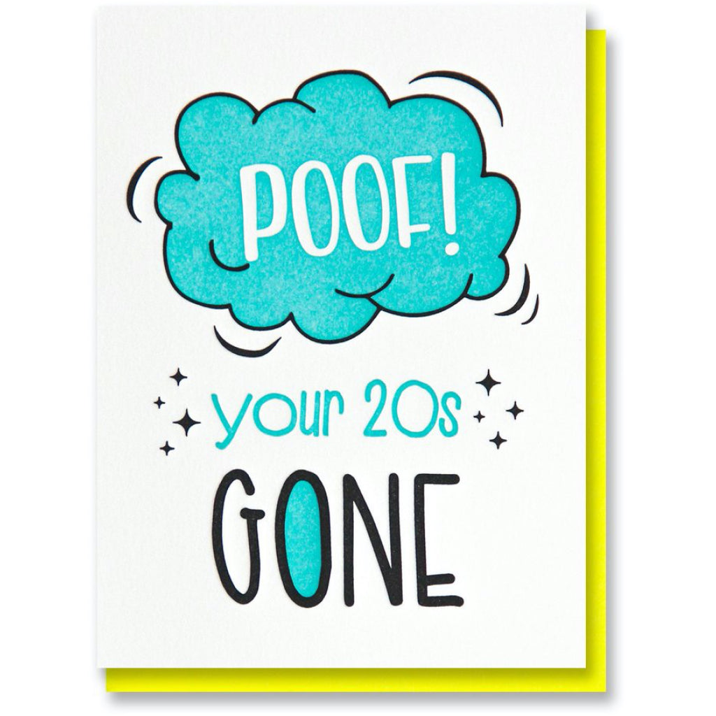 Poof 20s Birthday Card