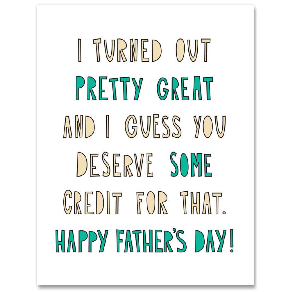 Pretty Great Dad Card