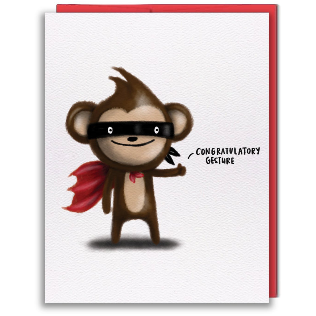 Proud Monkey Card