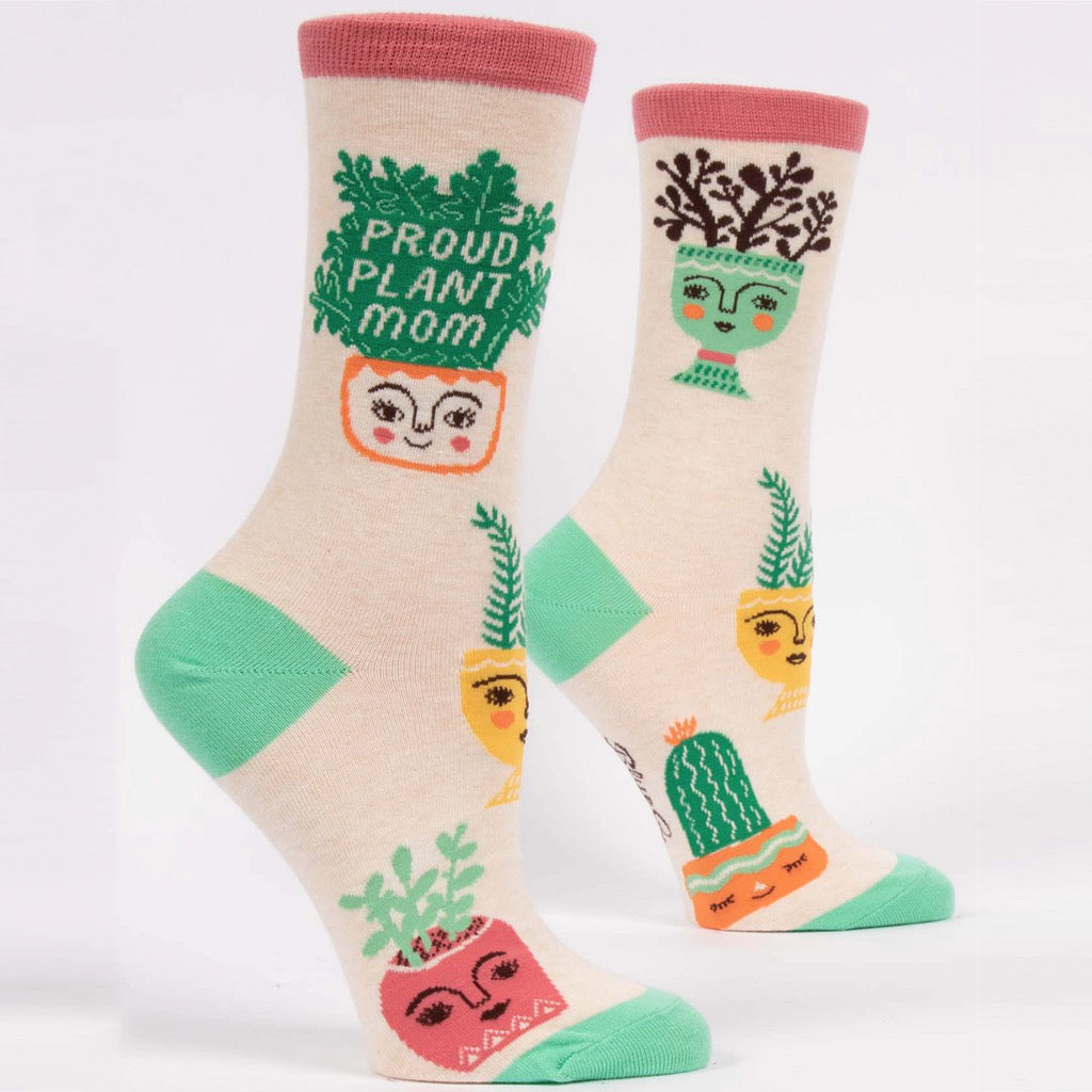 Proud Plant Mom Crew Socks.