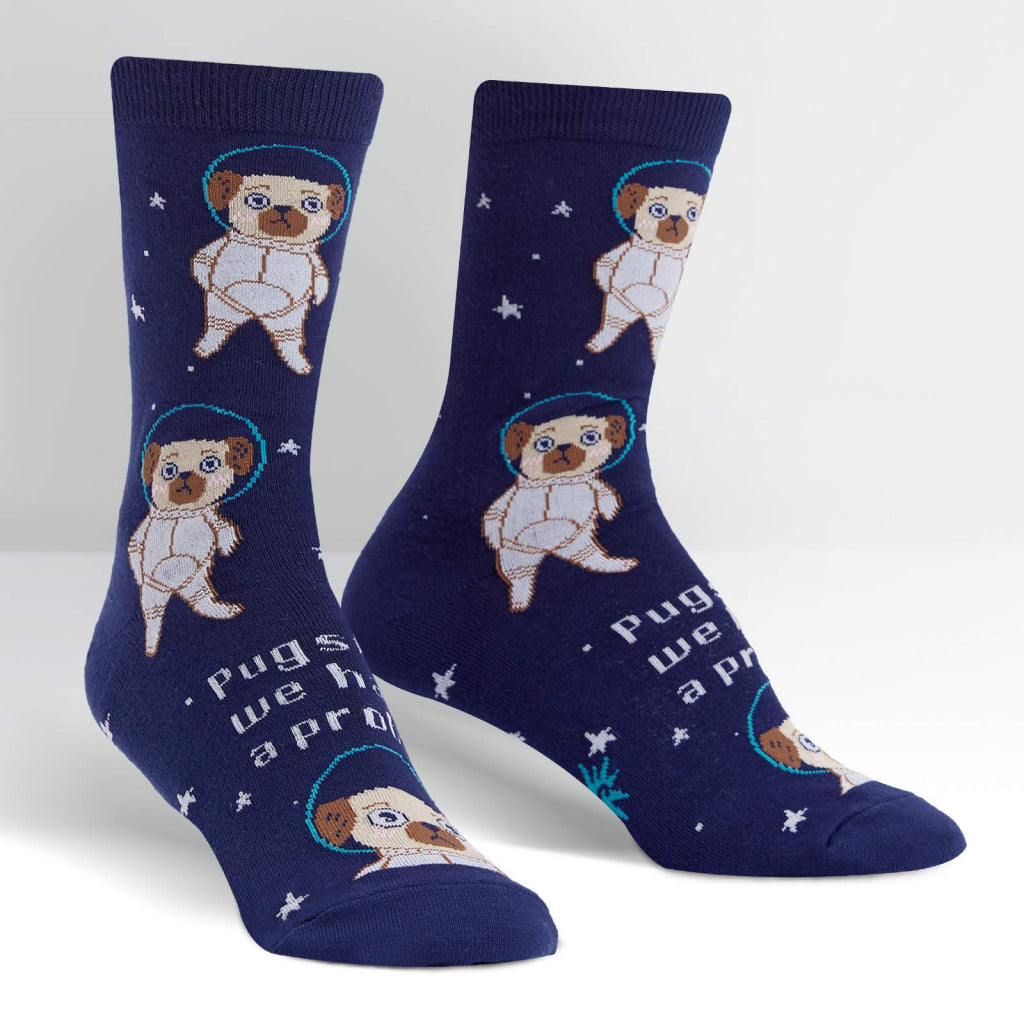 Pugston We Have A Problem Women's Crew Socks