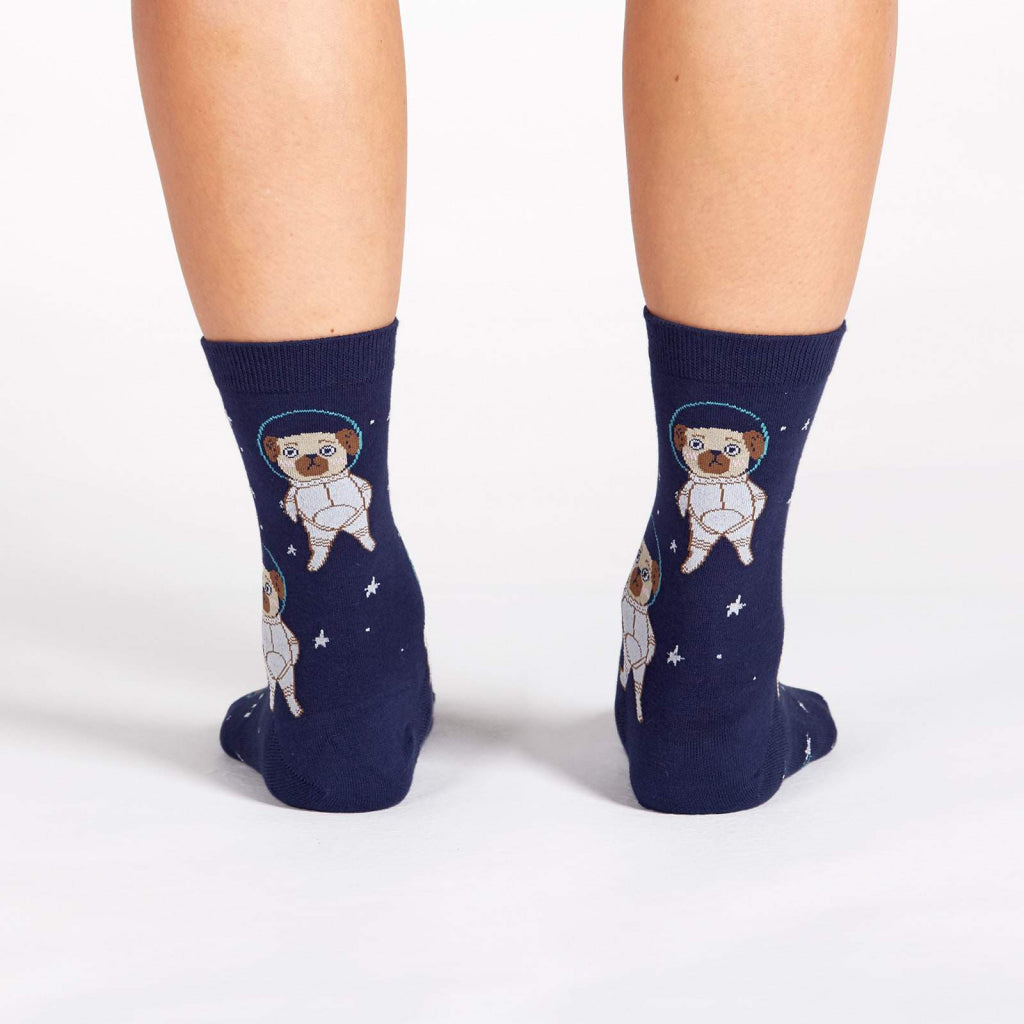 Pugston We Have A Problem Women's Crew Socks Back