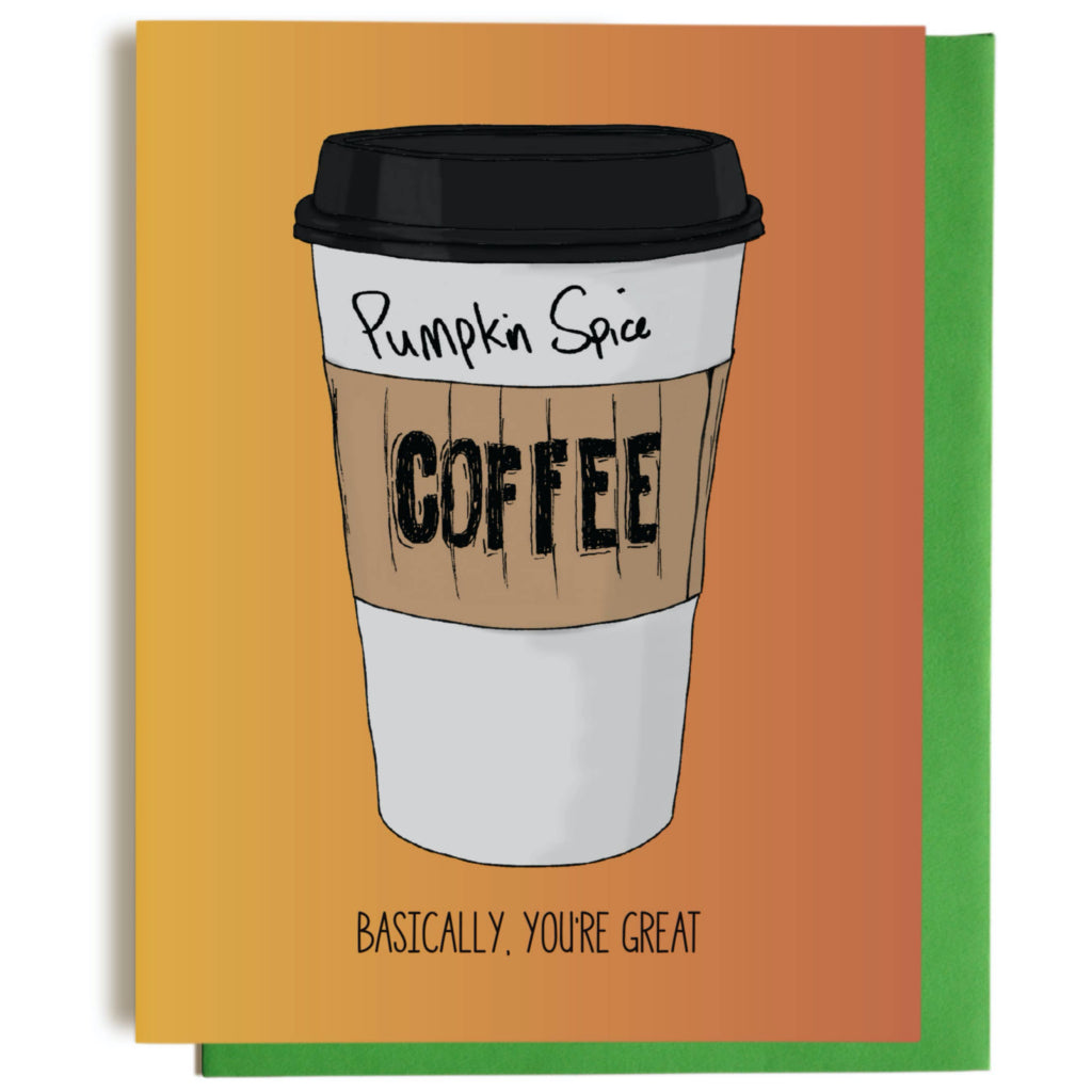 Pumpkin Spice Basic Greeting Card