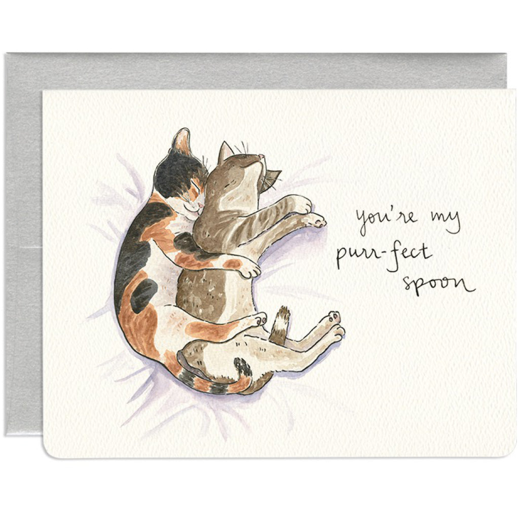 Purr-fect Spoon Love Card
