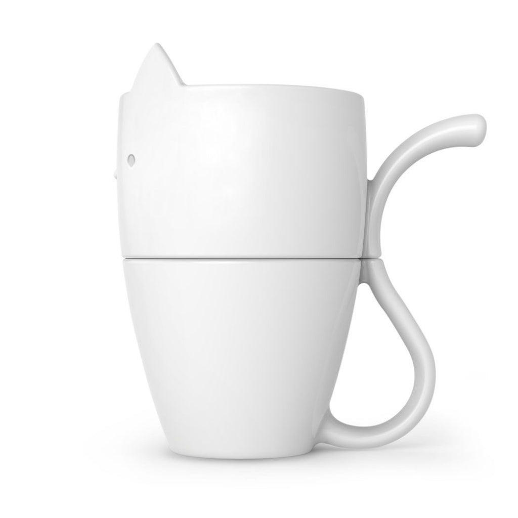 Purr Over Coffee Maker & Mug Set Side View