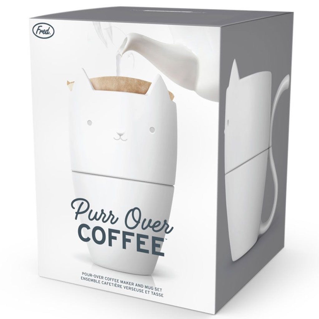Purr Over Coffee Maker & Mug Set In Box