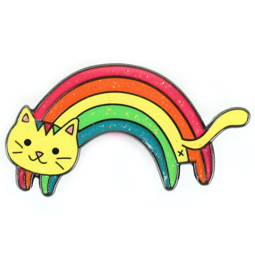 Rainbow Cat Enamel Pin