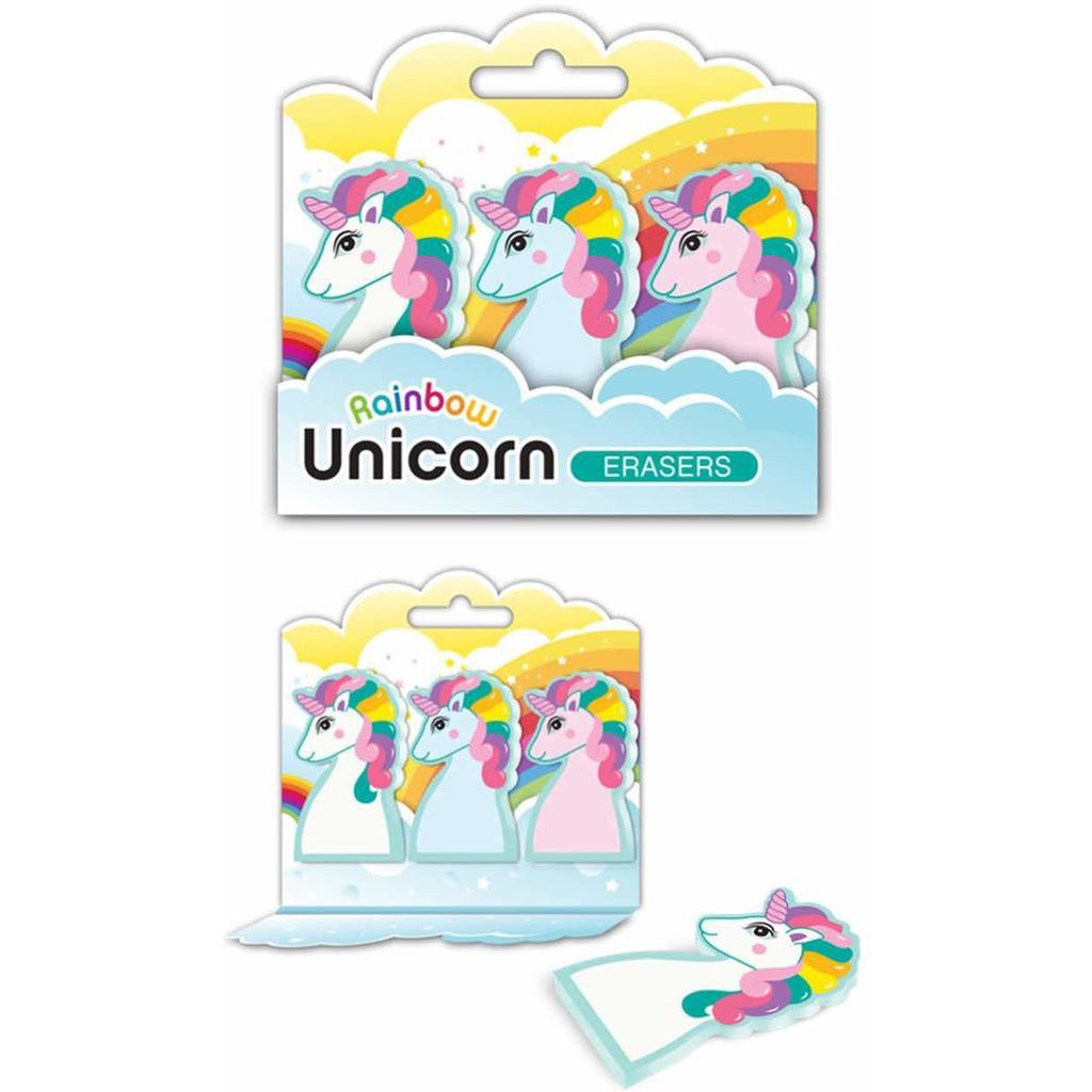 Rainbow Unicorn Erasers