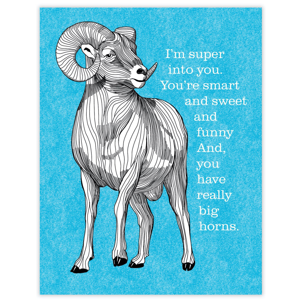 Really Big Horns Card