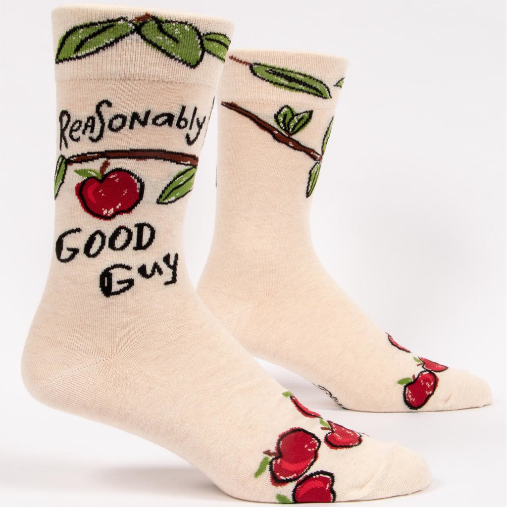 Reasonably Good Guy Men's Socks Front View
