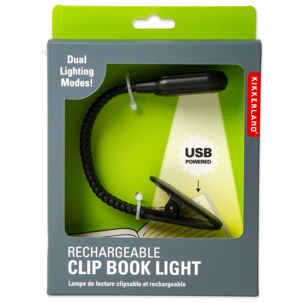 Rechargeable Clip Book Light In Package
