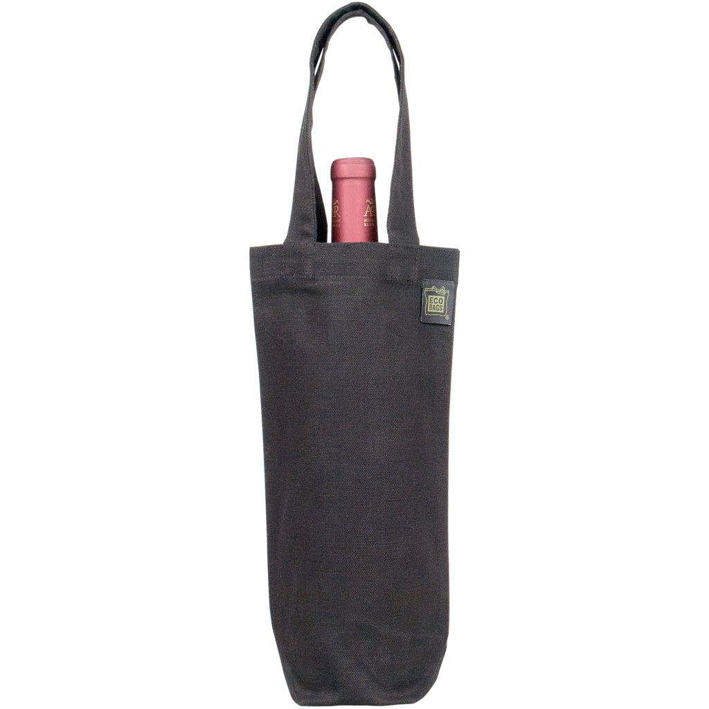 Recycled Cotton Wine Bag Black