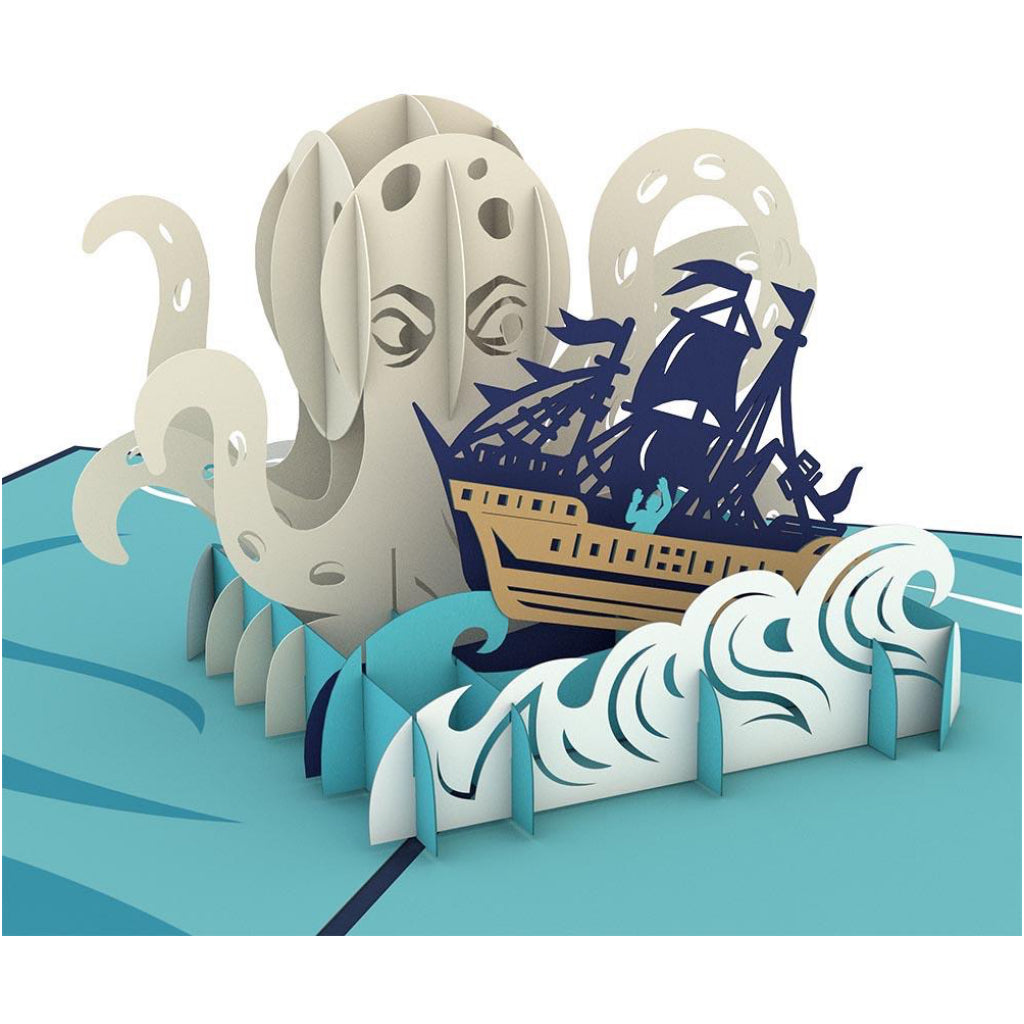 Release The Kraken 3D Pop Up Card