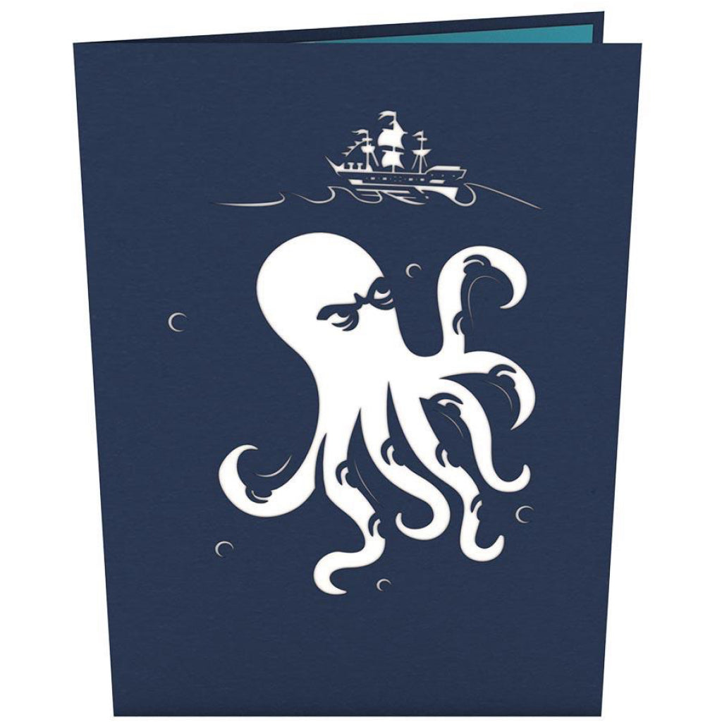 Release The Kraken 3D Pop Up Card Front