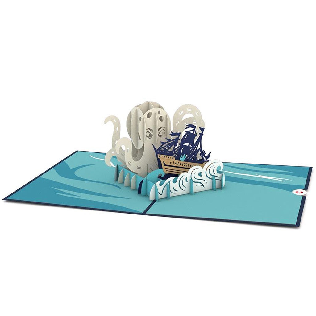 Release The Kraken 3D Pop Up Card Open