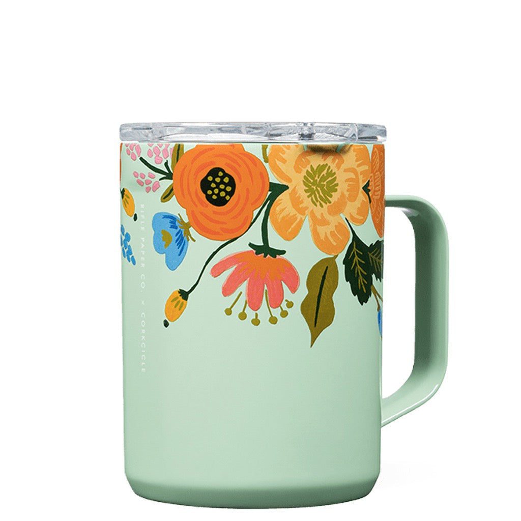 Rifle Paper Lively Floral Gloss Mint Mug 16oz