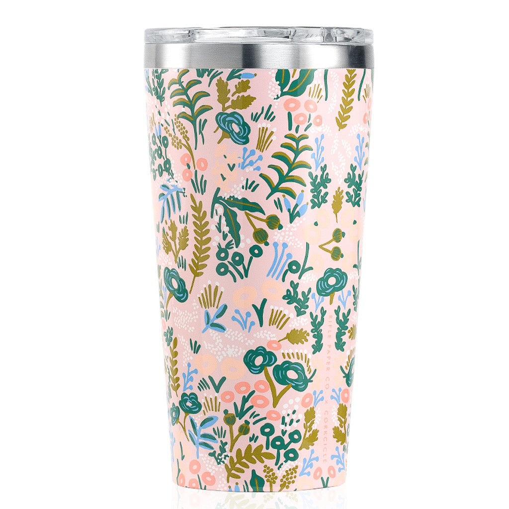 Rifle Paper Tapestry Gloss Pink Tumbler 16oz
