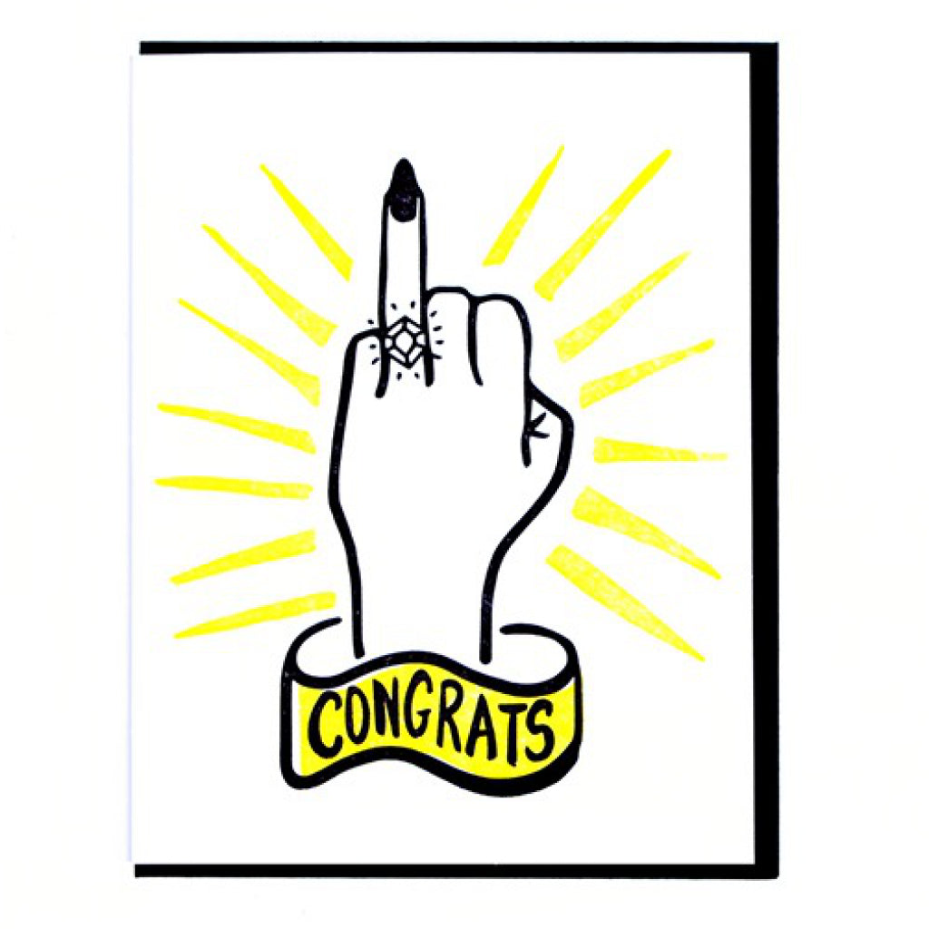 Ring Finger Congrats Card